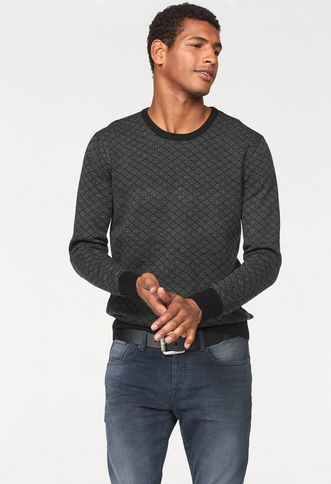 Scotch & Soda Wollpullover in schwarz-grau