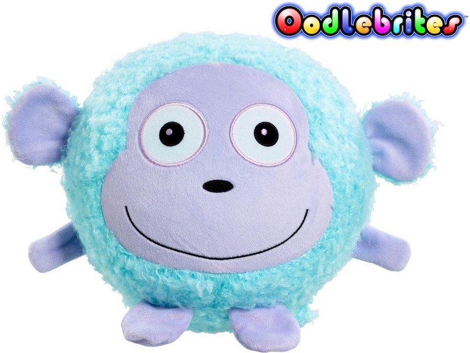 Vivid Aufblasbares Kuscheltier mit Leuchtfunktion, »Oodlebrites Affe« in blau