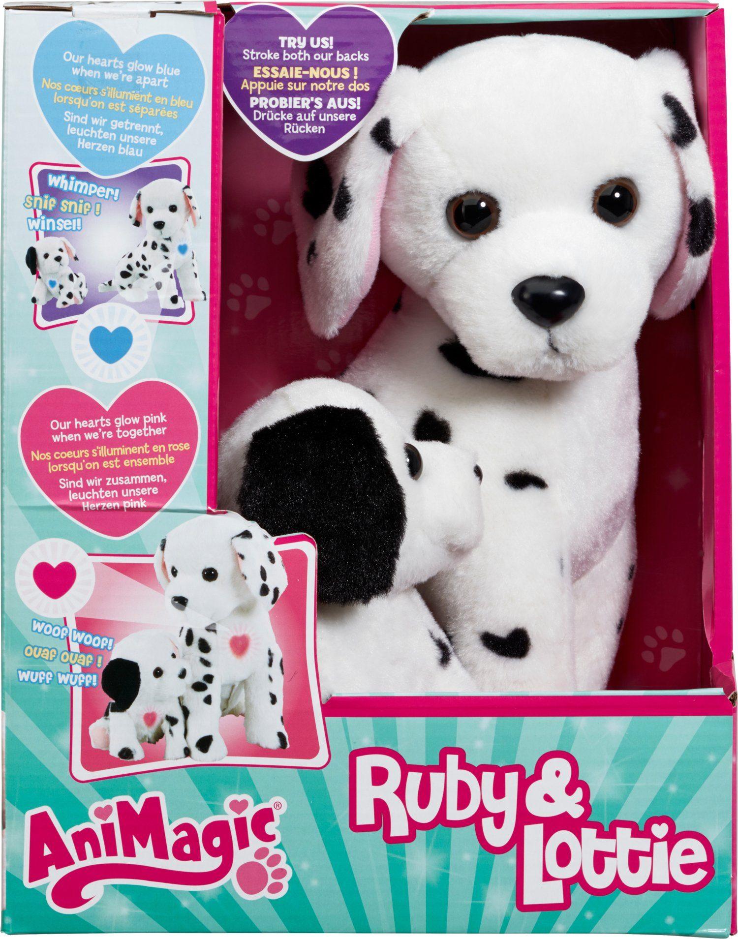 Vivid Set Plüschtier Hund mit Welpe mit Licht und Soundeffekten, »AniMagic Ruby & Lottie«