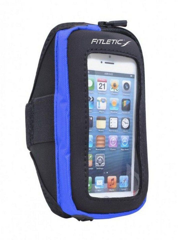 Fitletic Sportarmband »Smartphone Armtasche PLUS - Größe L/XL« in Blau-Anthrazit