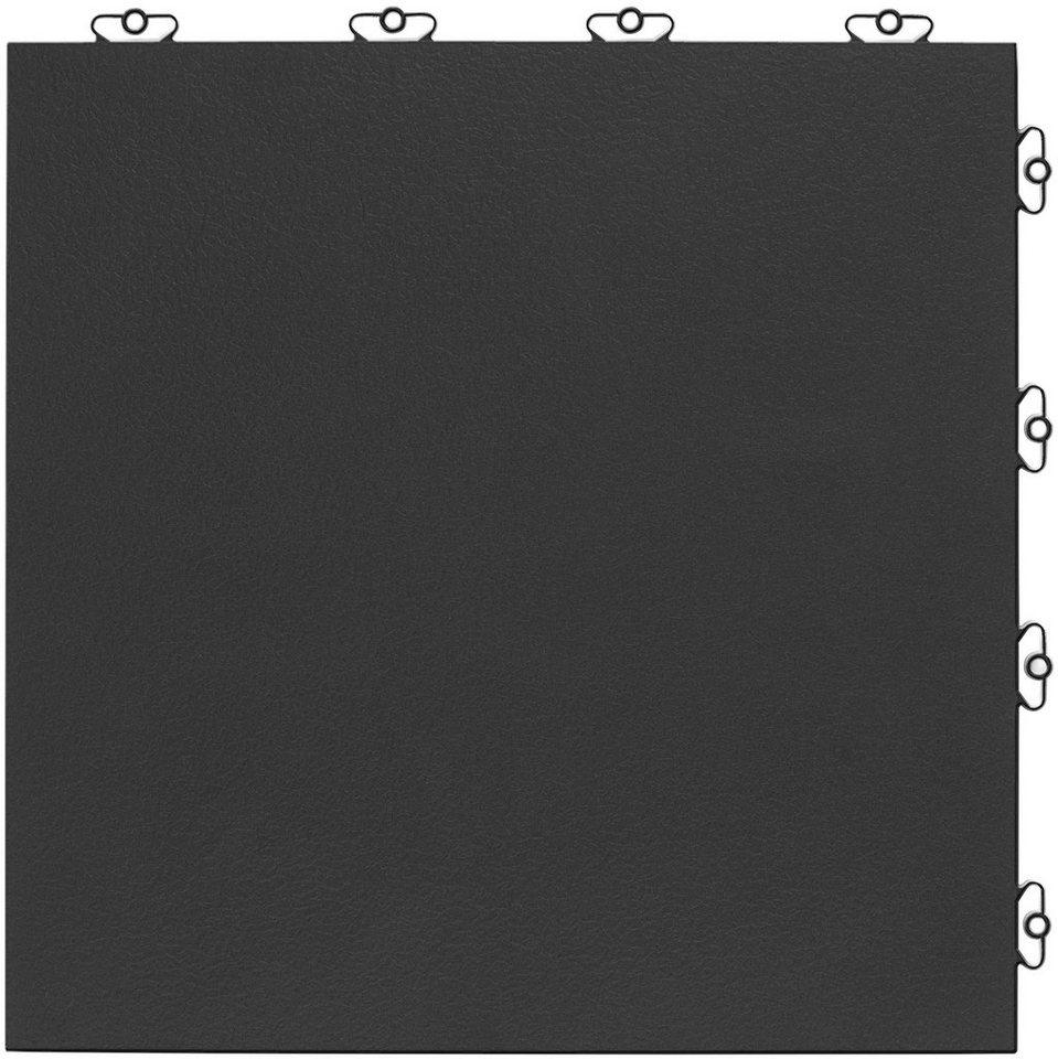 Bodenplatten-Set: »Kunststofffliese Elite anthrazit« in grau