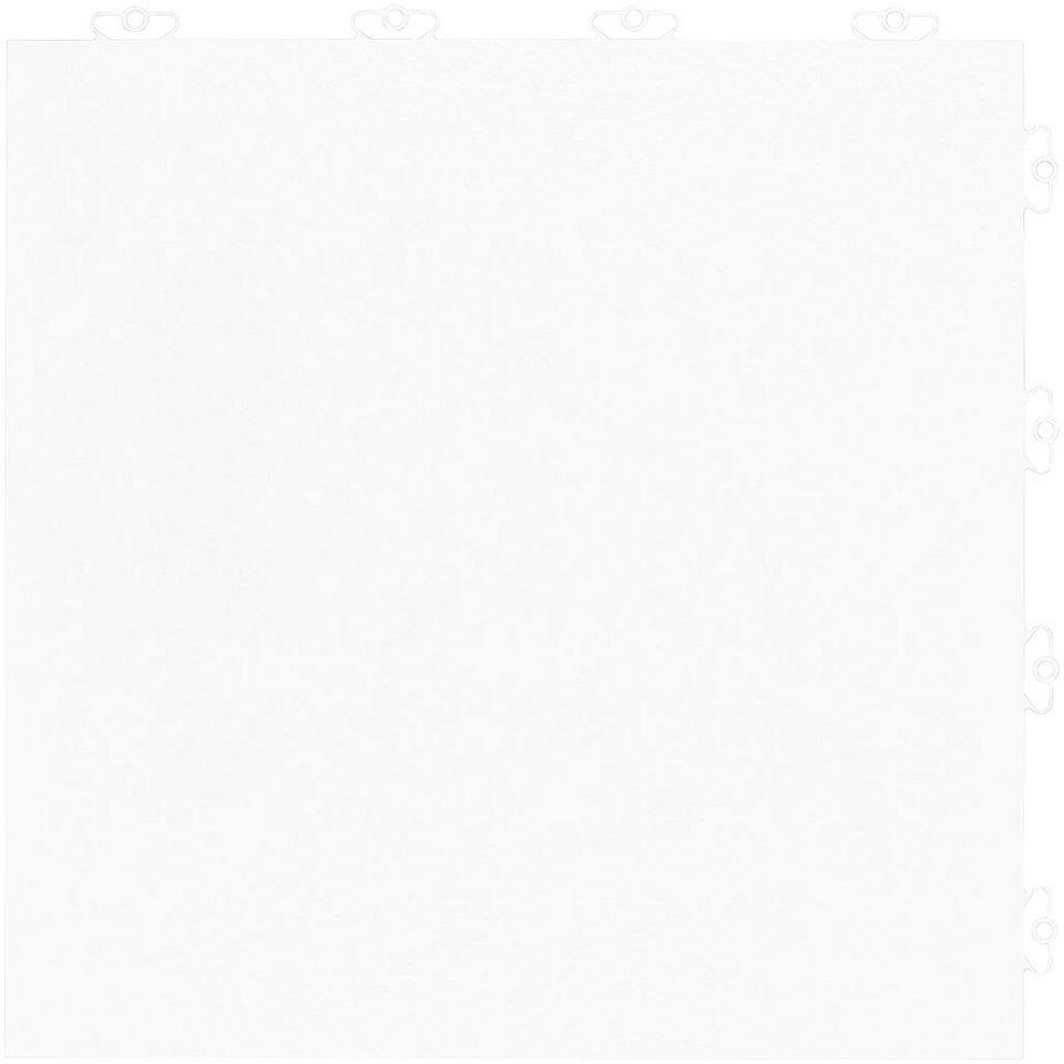 Bodenplatten-Set: »Kunststofffliese Elite weiß« in weiß