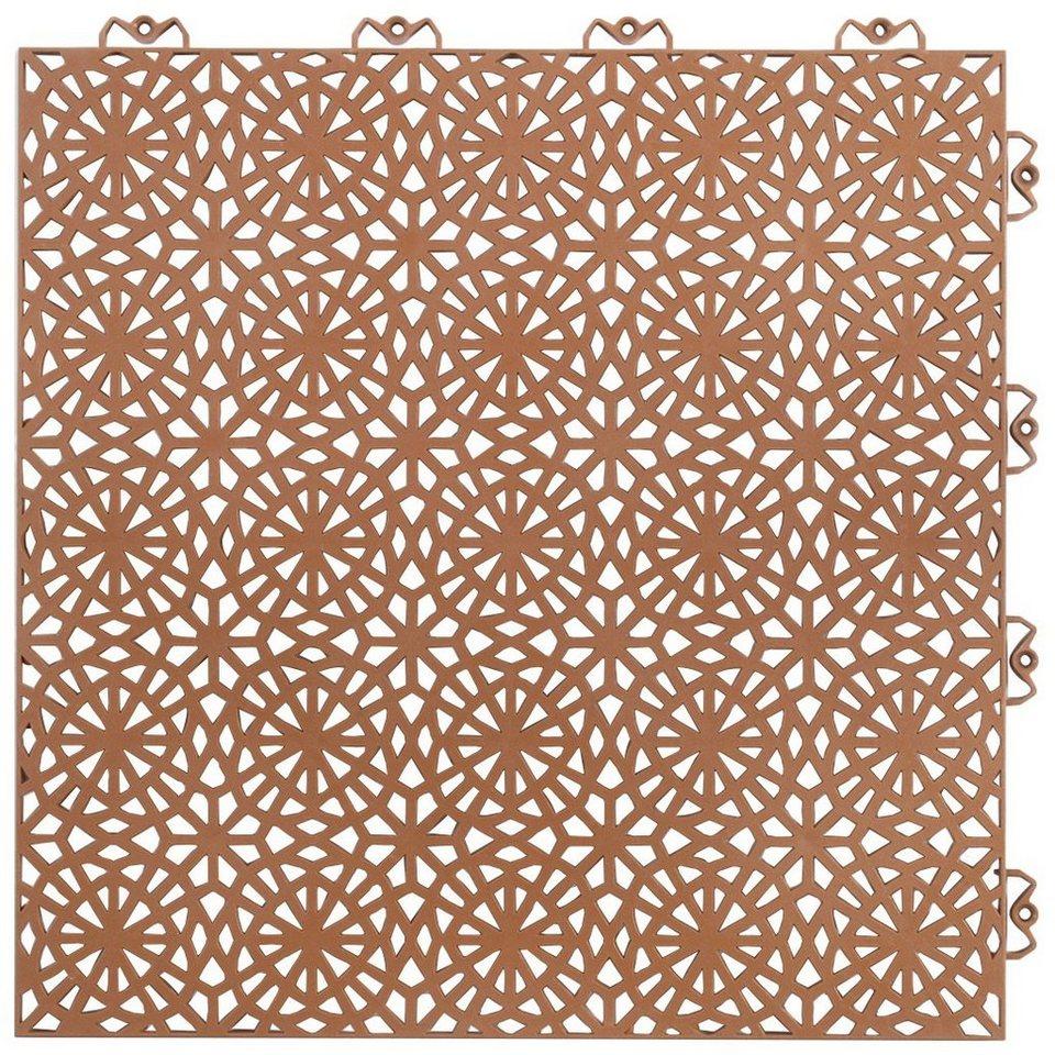 kunststofffliesen set xl terrakotta mit klick verbindung online kaufen otto. Black Bedroom Furniture Sets. Home Design Ideas