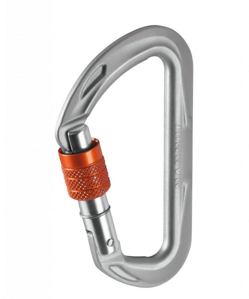 Mammut Karabiner »Wall Micro Lock Screw Gate Carabiner« in silber