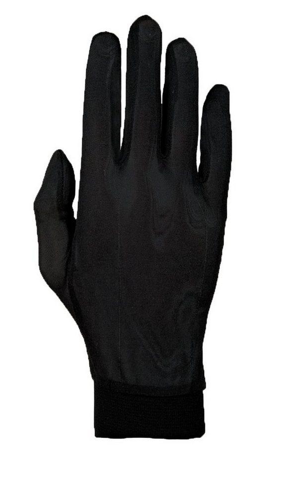 Roeckl Fahrrad Handschuhe »Silk Unterziehhandschuhe« in schwarz