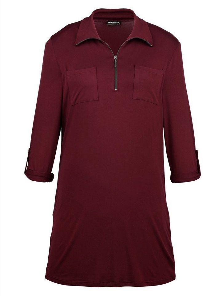 MIAMODA Shirtkleid in rubin