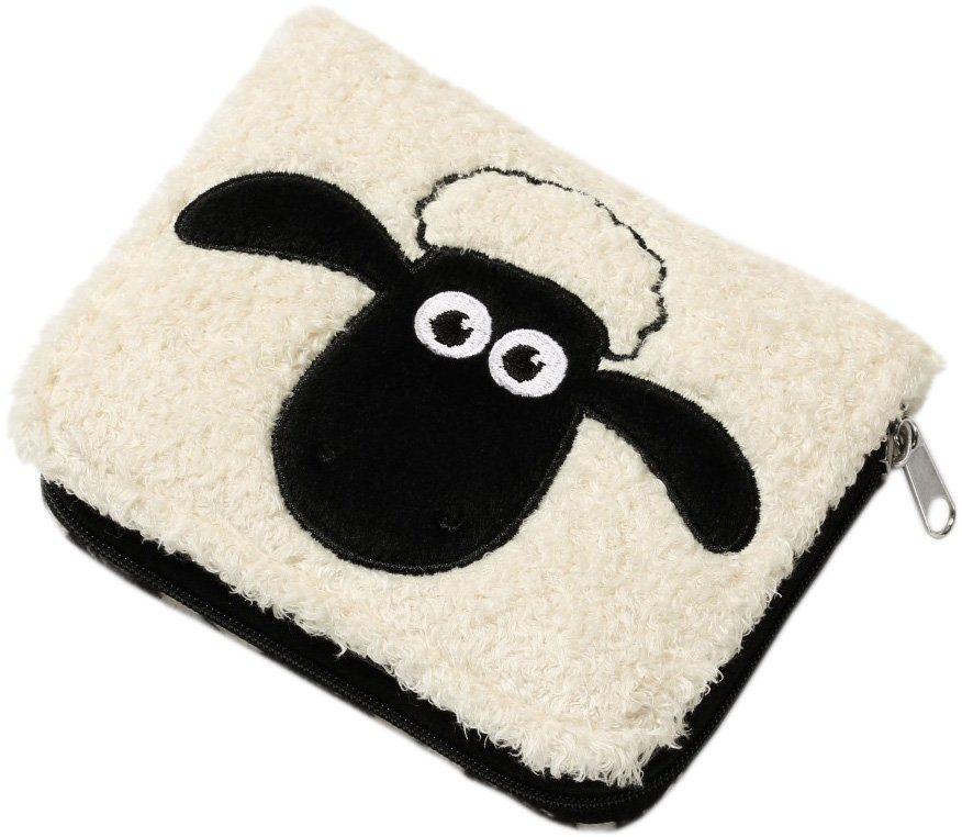 NICI Plüsch Geldbeutel, »Shaun das Schaf mit Muster« in weiß-schwarz