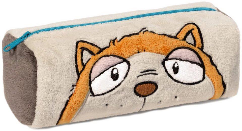 NICI Plüschmäppchen für Stifte, »Comic Cats Katze Hungry« in beigeorange