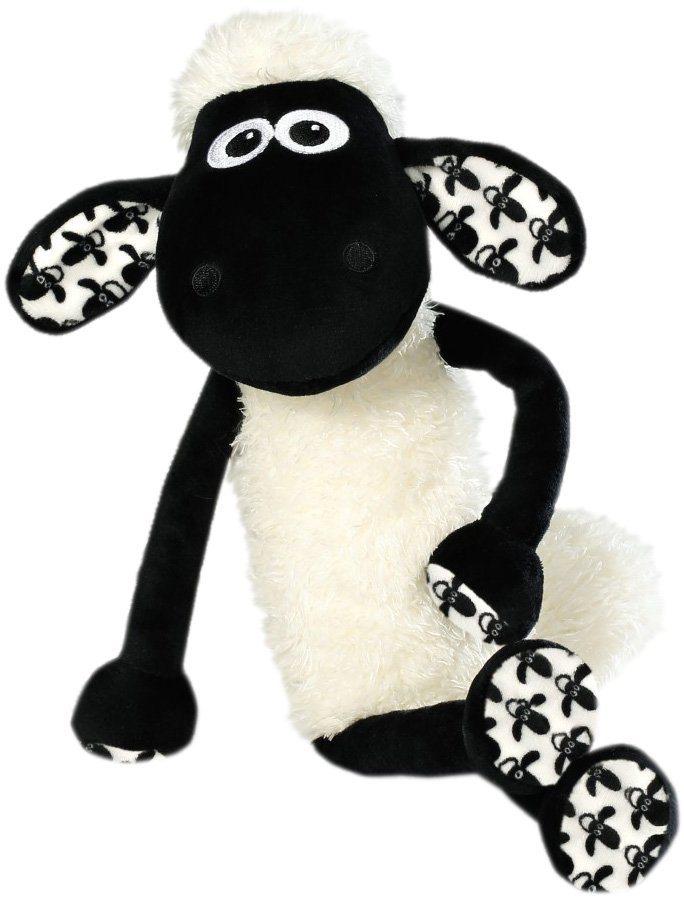 NICI Stofftier mit Musterung ca. 50 cm, »Shaun das Schaf« in weiß-schwarz