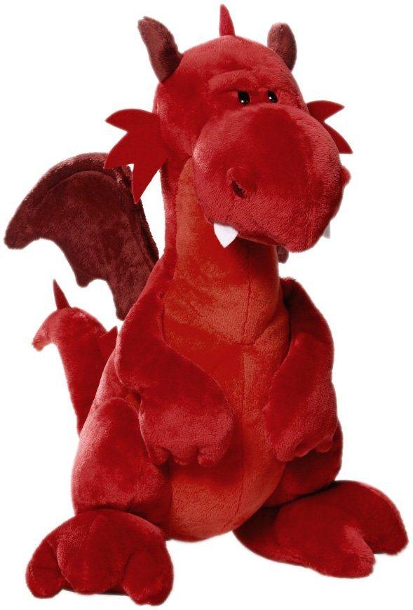 NICI Stofftier ca. 30 cm, »Drache Landogar« in rot