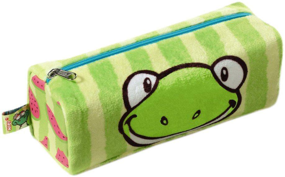 NICI Mäppchen mit Plüschstoff und Motiv, »Frosch Kolja« in grün