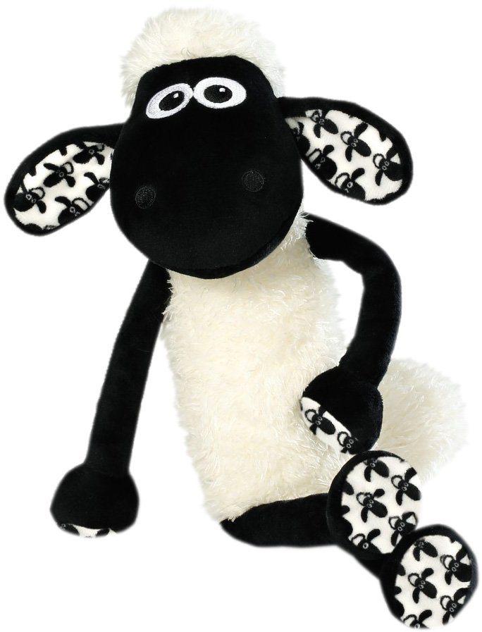 NICI Schlenker Stofftier ca. 35cm, »Shaun das Schaf« in weiß-schwarz