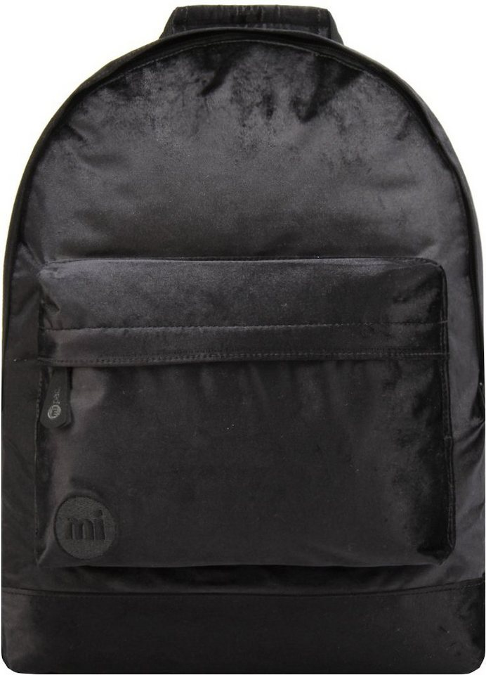 mi pac. Rucksack mit Laptopfach, »Backpack, Velvet« in schwarz