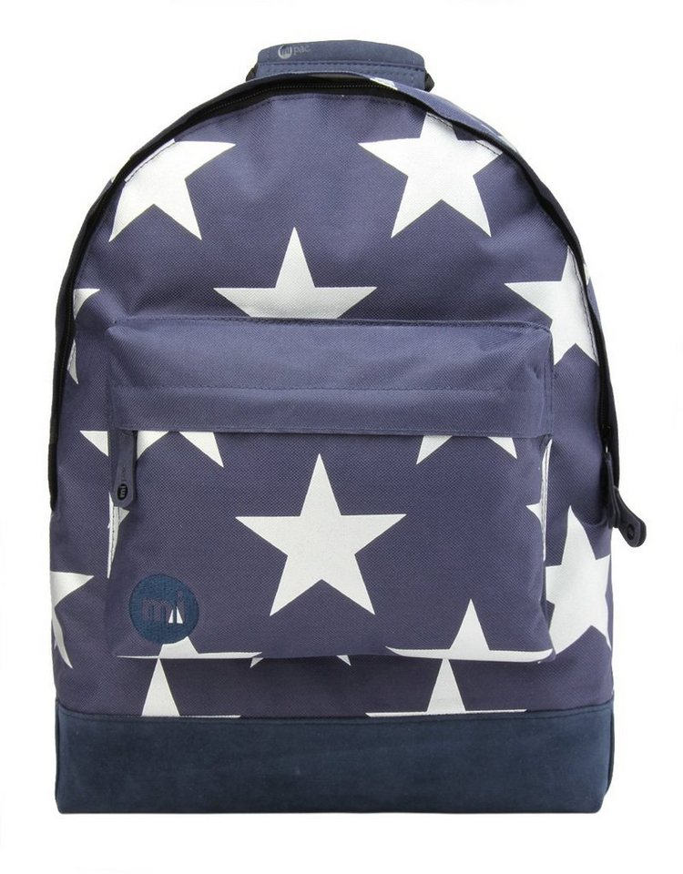 mi pac. Rucksack mit Laptopfach, »Backpack, Stars XL Navy Silver«