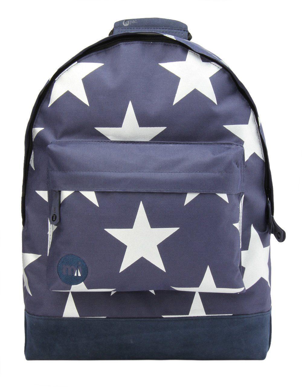 mi pac. Rucksack mit Laptopfach, »Backpack, Stars XL Navy Silver«