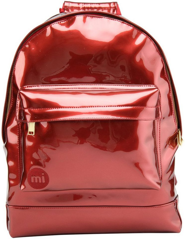 mi pac. Rucksack mit Laptopfach, »Backpack, Patent Red«. in Red
