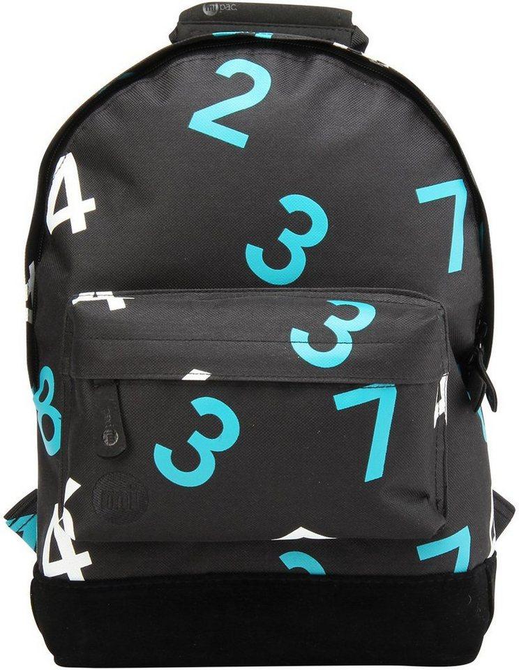 mi pac. Rucksack mit Laptopfach, »Backpack MINI, Numbers« in schwarz