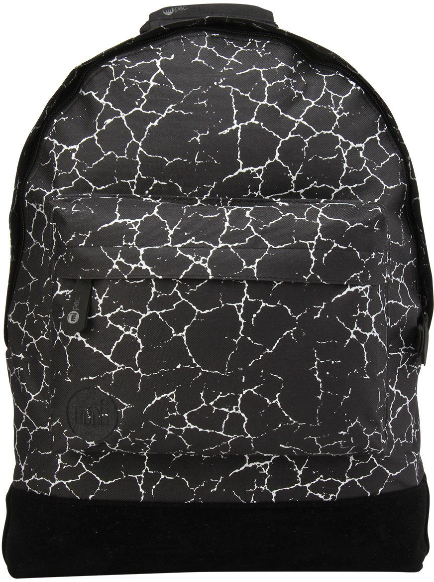 mi pac. Rucksack mit Laptopfach, »Backpack, Cracked Black Silver«