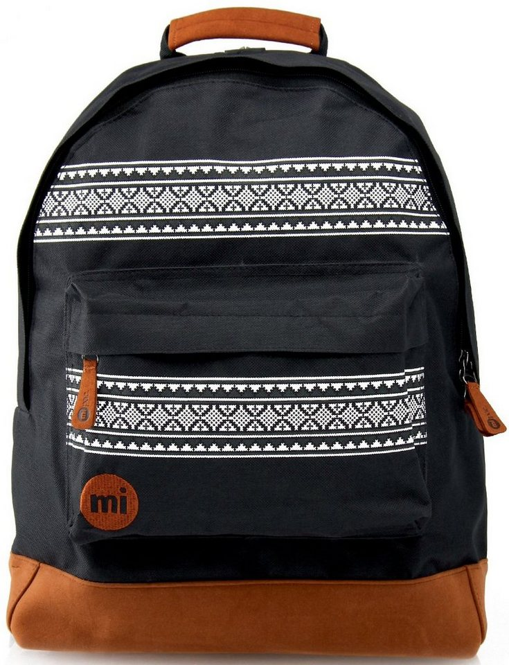mi pac. Rucksack mit Laptopfach, »Backpack, Nordic Black« in schwarz