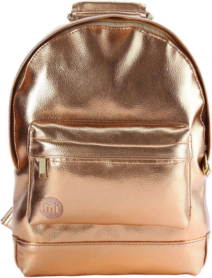mi pac. Rucksack mit Laptopfach, »Backpack MINI, Metallic Rosé Gold«
