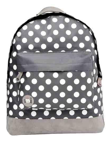 mi pac. Rucksack mit Laptopfach, »Backpack, All Polka Charcoal White«