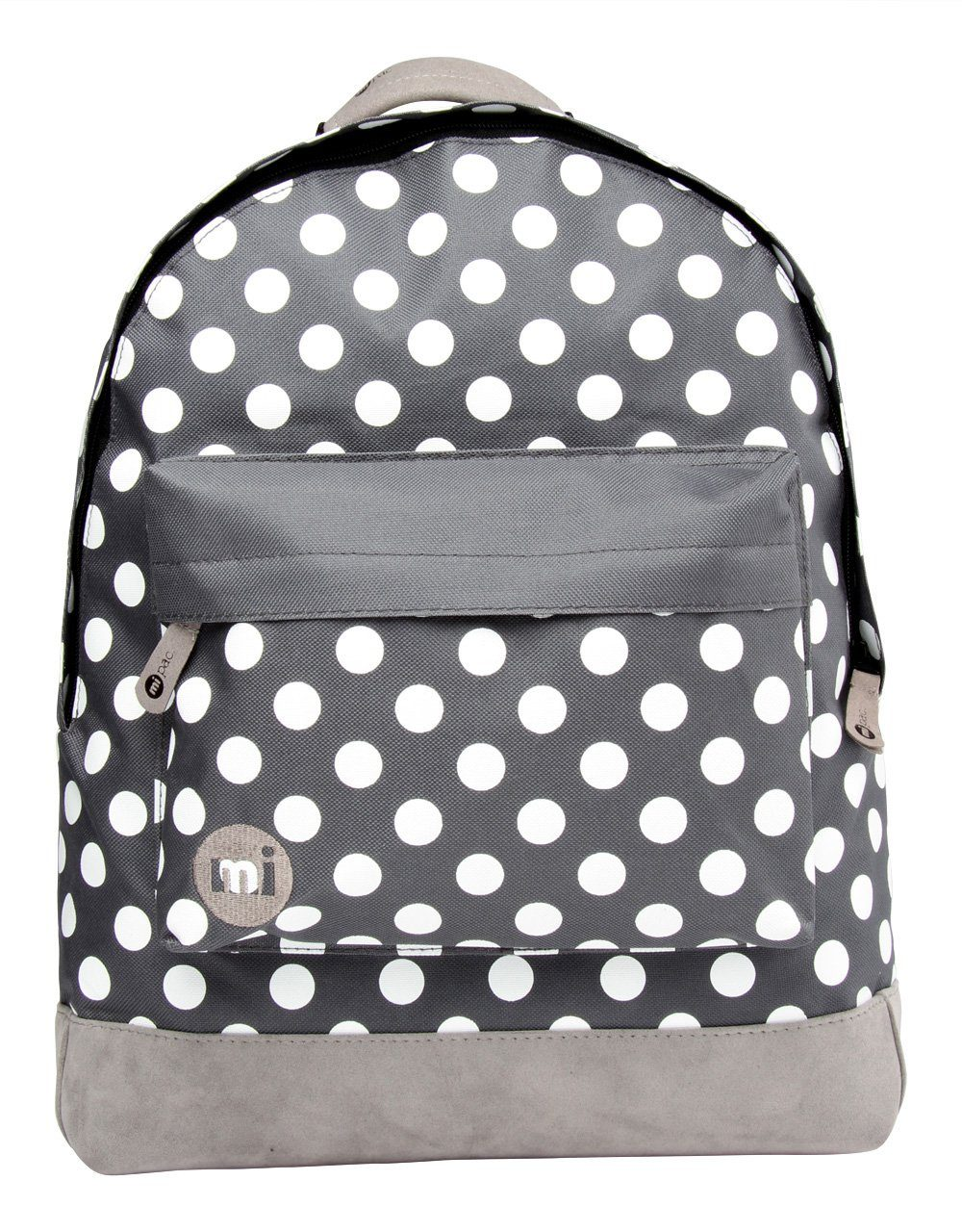 mi pac. Rucksack mit Laptopfach, »Backpack, All Polka Charcoal White«