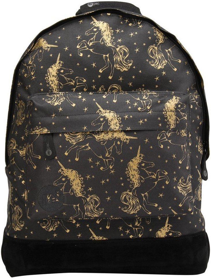 mi pac. Rucksack mit Laptopfach, »Backpack, Unicorns Black Gold«
