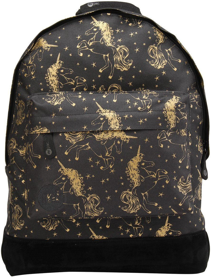 mi pac. Rucksack mit Laptopfach, »Backpack, Unicorns Black Gold«