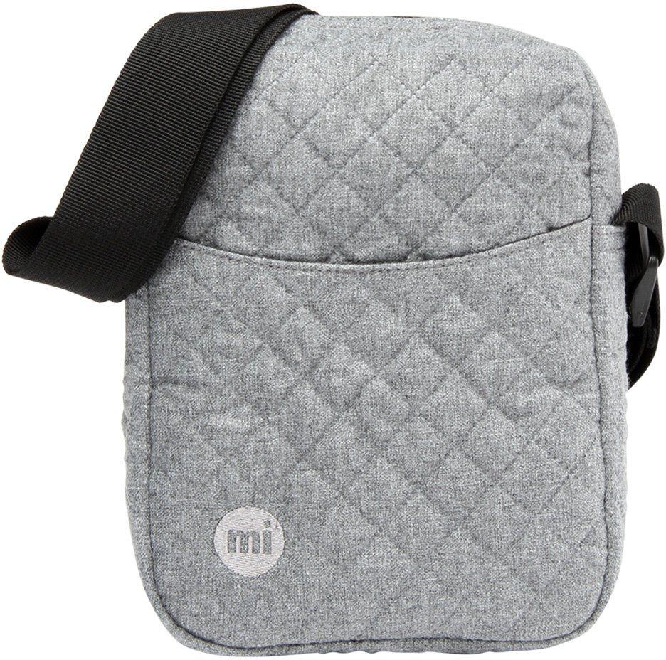 mi pac. Flugumhängetasche mit Innenraumteiler, »Flight Bag, Quilted Grey« in grau