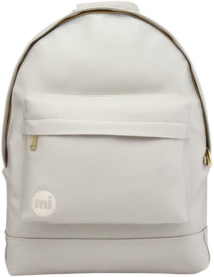 mi pac. Rucksack mit Laptopfach , »Backpack, Tumbled Light Grey« in grau