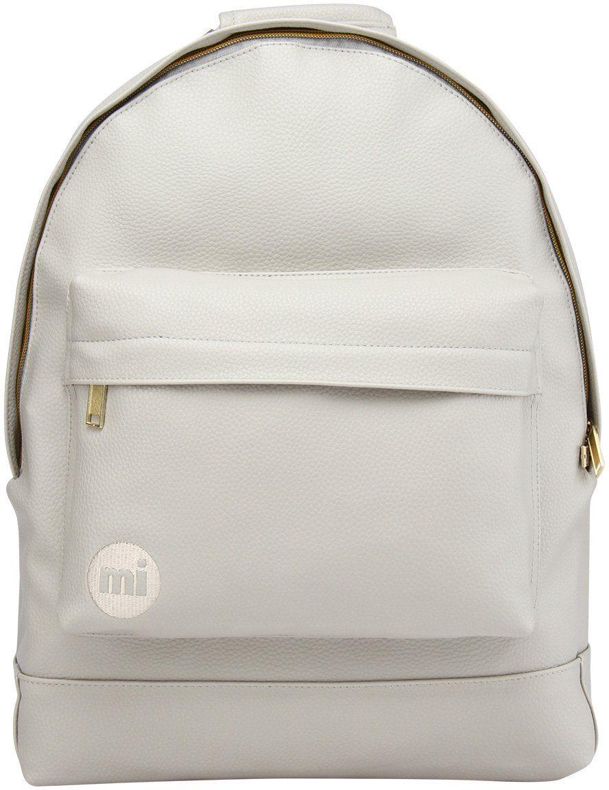 mi pac. Rucksack mit Laptopfach , »Backpack, Tumbled Light Grey«