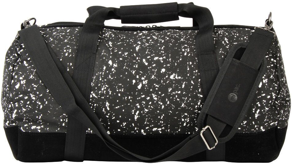 mi pac. Reisetasche, »Duffel, Splattered Black White«