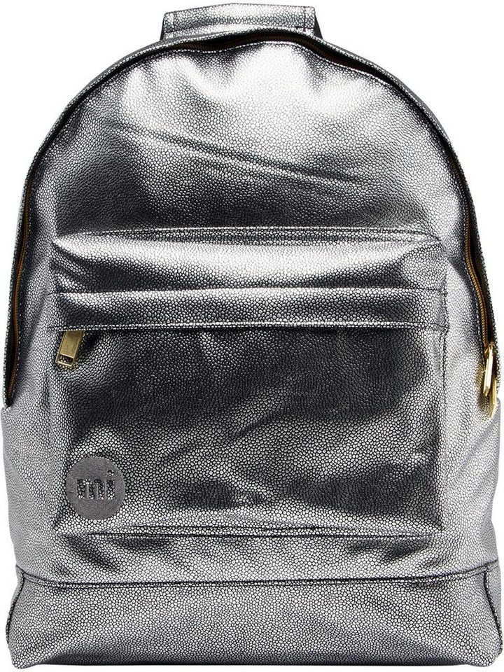 mi pac. Rucksack mit Laptopfach, »Backpack, Pebbled« in silberfarben