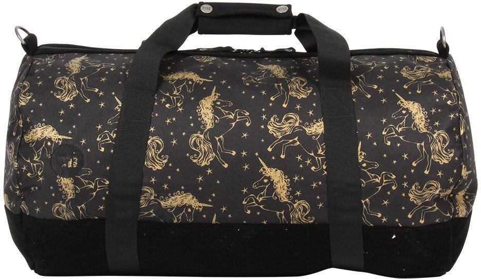 mi pac. Reisetasche, »Duffel, Unicorns Black Gold«