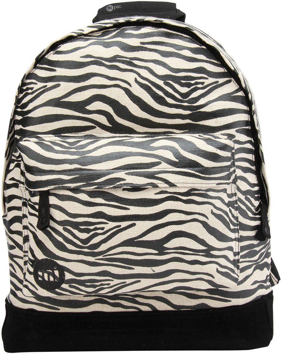 mi pac. Rucksack mit Laptopfach, »Backpack, Canvas Zebra«
