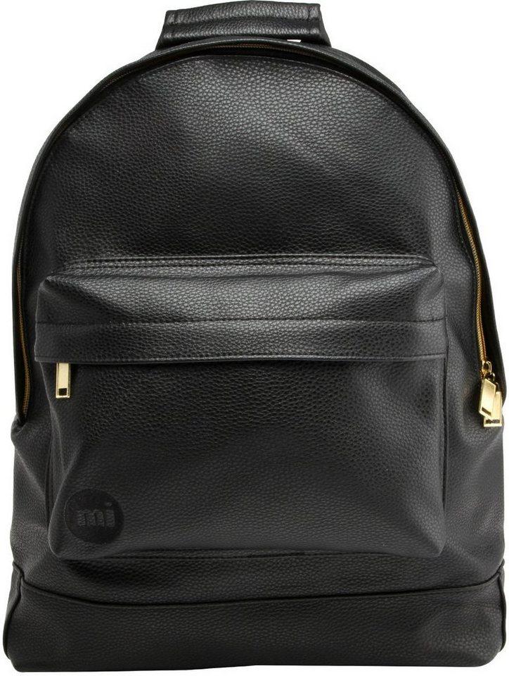 mi pac. Rucksack mit Laptopfach , »Backpack, Tumbled Black« in schwarz