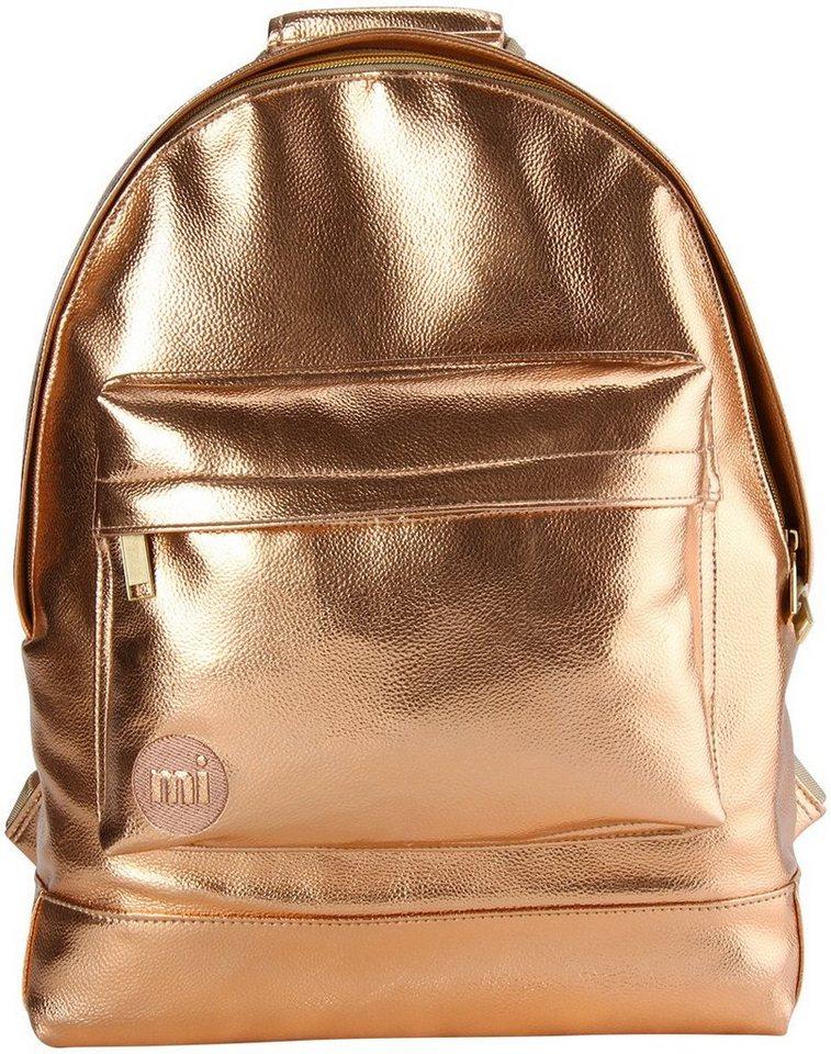 mi pac. Rucksack mit Laptopfach, »Backpack, Metallic Rosé Gold« in goldfarben