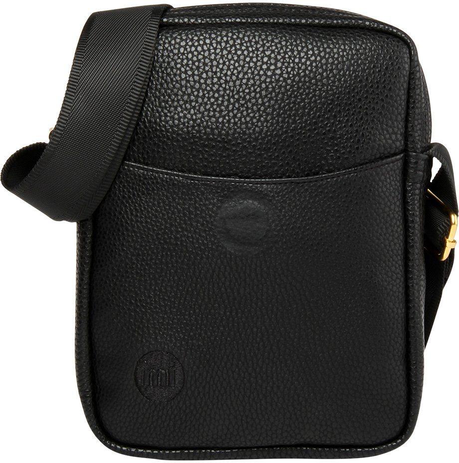 mi pac. Flugumhängetasche mit Innenraumteiler, »Flight Bag, Tumbled Black« in schwarz
