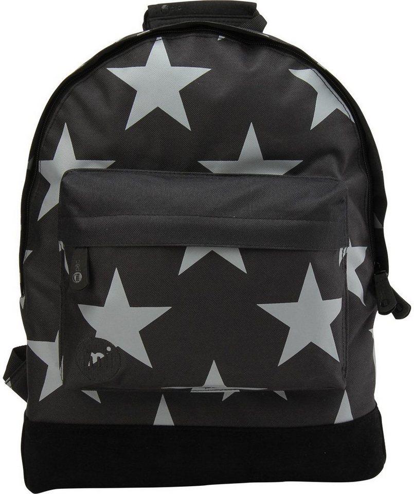 mi pac. Rucksack mit Laptopfach, »Backpack, Stars XL Black Grey«