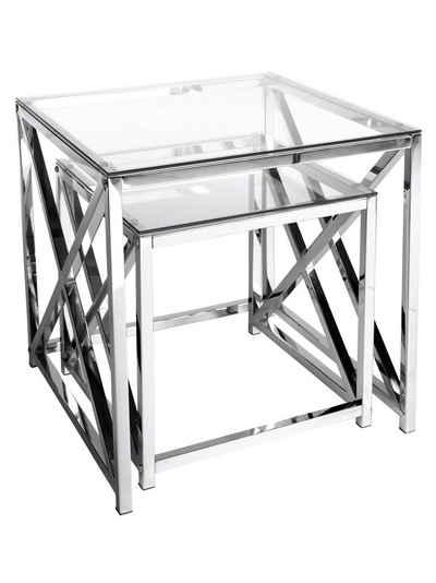 Beistelltisch glas chrom eckig  Beistelltisch online kaufen » Design & Klassisch | OTTO