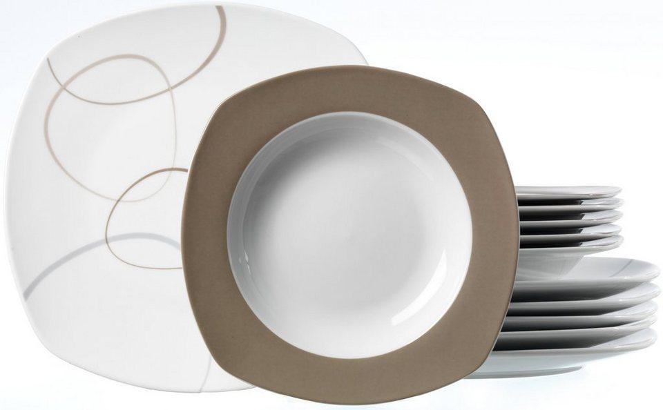 flirt by r b tafelservice porzellan 12 tlg alina online kaufen otto. Black Bedroom Furniture Sets. Home Design Ideas