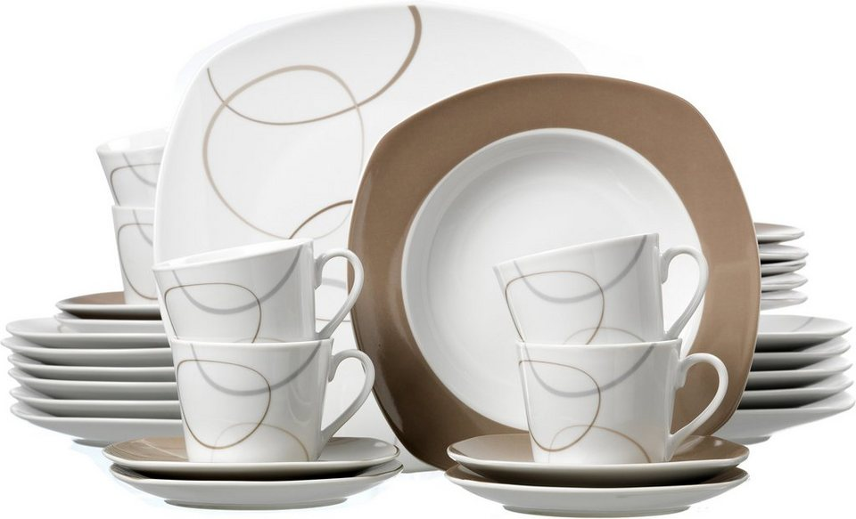 flirt by r b kombiservice porzellan 30 tlg alina online kaufen otto. Black Bedroom Furniture Sets. Home Design Ideas