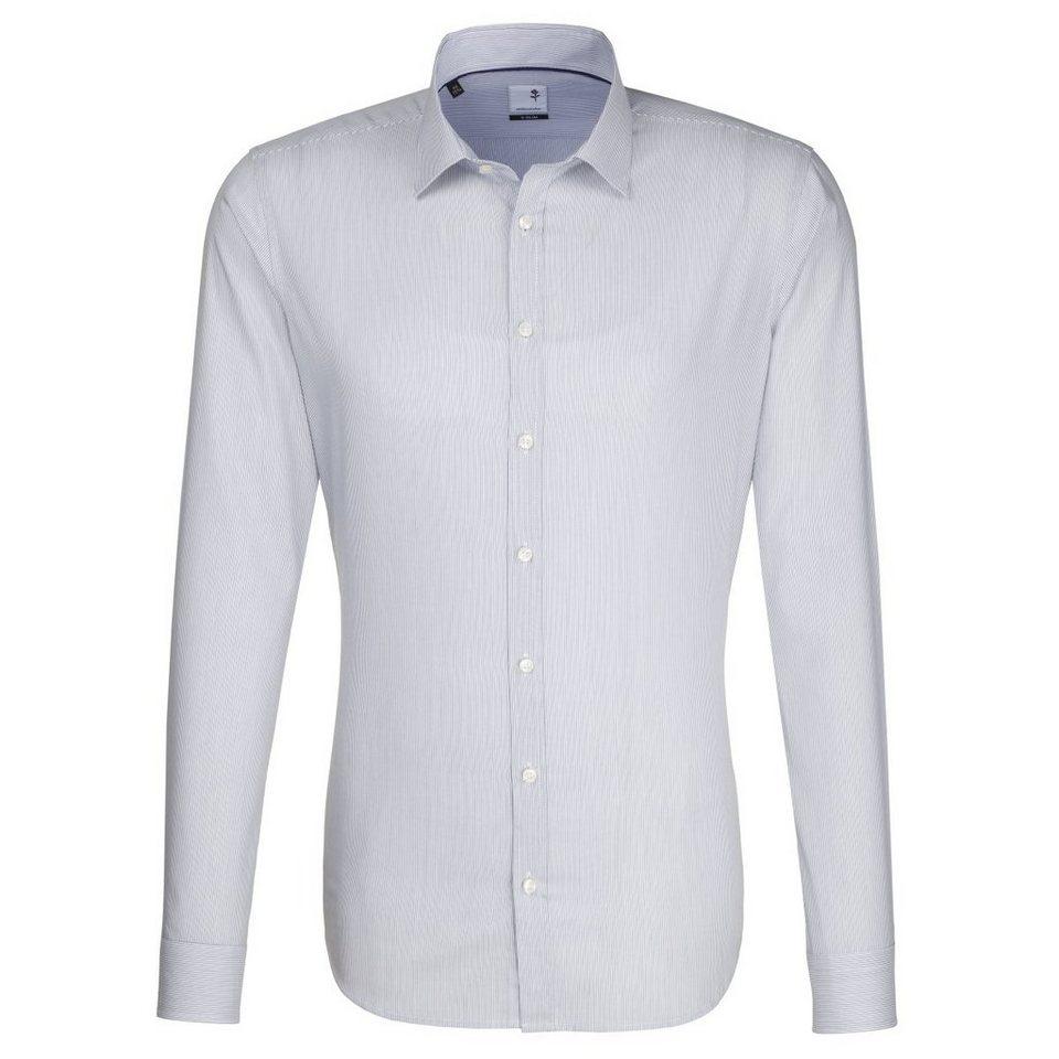 Seidensticker Businesshemd »x-slim« in dunkelblau
