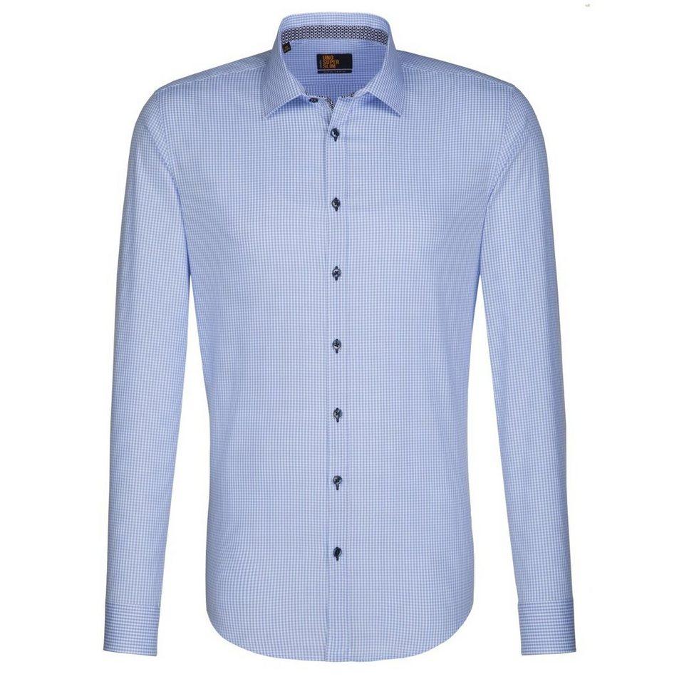 Seidensticker Businesshemd »UNO SUPER SLIM« in blau