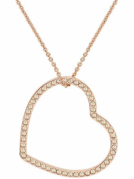 Lolaandgrace Kette mit Anhänger »VENICE PENDANT, 5217071« mit Swarovski® Kristallen in roségoldfarben