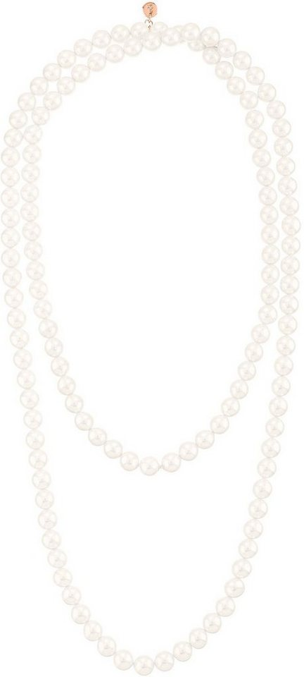 Lolaandgrace Perlenkette »OCEAN SAUTOIR, 5099637« mit Swarovski® Perle in roségoldfarben-weiß