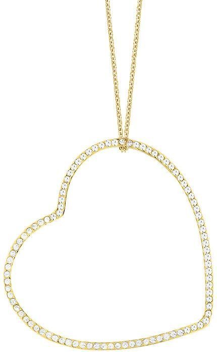 Lolaandgrace Kette mit Anhänger »VENICE LONG PENDANT, 5200588« mit Swarovski® Kristallen in goldfarben