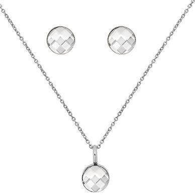 Lolaandgrace Schmuckset »SPARK CHECKERBOARD SET, 5217122« mit Swarovski® Kristallen in silberfarben
