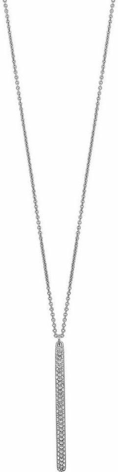 Lolaandgrace Kette mit Anhänger »VEGAS LONG PENDANT, 5216964« mit Swarovski® Kristallen in silberfarben