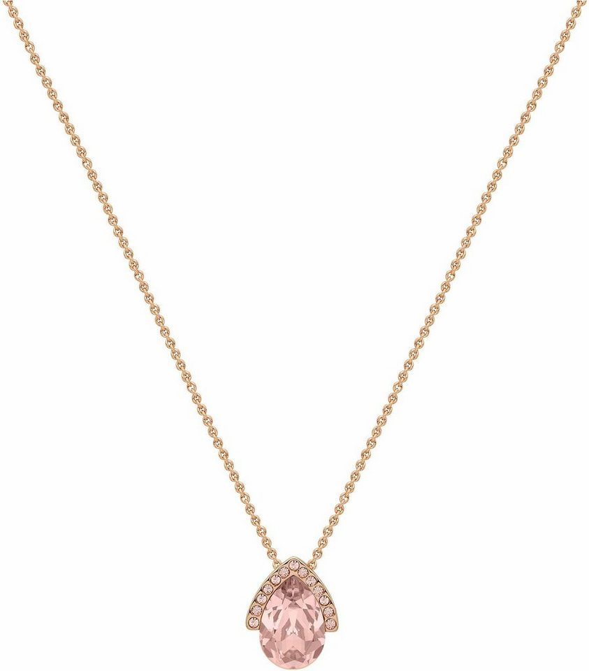 Lolaandgrace Kette mit Anhänger »LUXE DROP PENDANT, 5251708« mit Swarovski® Kristall in roségoldfarben